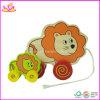 나무로 되는 동물성 실행 풀 사자 장난감 (W05B053)