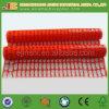 Orange Plastikineinander greifen-Zaun, Schnee-Zaun, warnendes Ineinander greifen-Netz