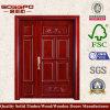パネルの二重入口の純木のドア(XS1-022)