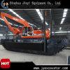L'excavatrice hydraulique de chat avec sarclent la pile