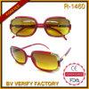 R-1460 de las señoras de la novedad de moda delgado Bifocal Sun Reader con las decoraciones de metal