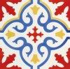 Azulejo de porcelana vitrificada em estilo espanhol vermelho 20 * 20cm