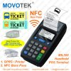 Movotek GPRS POS Terminal met RFID, Nfc Card Reader en POS Printer voor Bus Ticketing