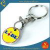 Kundenspezifische Eisen-Stempel-Decklack-Laufkatze-Schlüsselketten-Münze