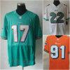 Football americano arancione bianco verde Jersey di risveglio del Ryan Tannehill Reggie Bush Cameron dell'elite