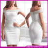 Fashion novo Brand 2015 Design Bandage Dress Sexy Summer Cocktail Dress, para Lady Elegant Beading Evening Dress (C-129)