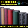 3D Carbon Fiber Vinyl Film avec Air Bubbles Free Carbon Fiber Film pour Car Stickers