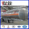 Semi Aanhangwagen van de Tanker van de Brandstof van de Aardolie van het Staal van de Aanhangwagen 45000L van de Tank van de Ruwe olie de Semi