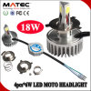 3 Side (PCS) LED Chips H6 H4 H7 18W Motorcycle LED Headlight