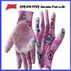 Покрынные PU трудные защитные перчатки работы Guantes (PU 10019)