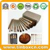 Олово металла комплекта щетки состава для косметик упаковывая коробки