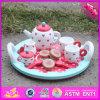 Комплект чая игрушки оптового младенца 2016 деревянный, комплект чая игрушки кухни малышей деревянный, комплект чая W10d120 игрушки смешных детей деревянный