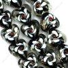 Стеклянная бусина формы сердца