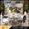 Tableau de marbre rond de type de meubles européens de salle à manger