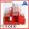 Alzamiento doble del pasajero de la jaula del alzamiento 2ton de la construcción (SC200/200)