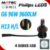 Farol do diodo emissor de luz do diodo emissor de luz H13 12V da Philips do carro da fábrica G6 de Matec