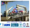 Guindaste marinho hidráulico da plataforma do navio telescópico do crescimento
