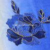 Lenço tingido poliéster do laço do bordado (AJC10021335)