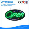 Muestra abierta brillante oval de Hidly alta LED