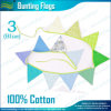 多彩な三角形の綿の旗布のフラグ(B-NF11F19021)