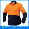 중국 도매 일 의류 100%년 면 안전 오렌지 셔츠