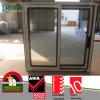 Ventana de desplazamiento de calidad superior del PVC de los materiales con el vidrio teñido gris