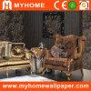 Papier peint profondément de relief de PVC de luxe d'importation