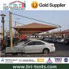 2 barracas de Canopt do abrigo de Caprot dos carros para o estacionamento do carro