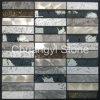 El travertino mezcló el mosaico decorativo del azulejo de la pared de los paneles de pared del diseño moderno de mármol de la casa