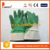 Handschoenen Dcl415 van de katoenen de Groene Veiligheid van Handschoenen Latex Met een laag bedekte