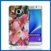 Caso de la cubierta del diseño floral dura de la PC para el Galaxy Note 5