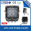 luz óptica del trabajo de 4D Lense 45W 9-60V LED industrial