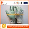 Рабочие Перчатки Нейлоновые с Зелёным Нитрилом (DNN354)