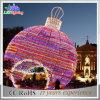 Свет шарика напольного празднества украшения СИД шарика рождества цветастый