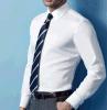 Camicia convenzionale del Lungo-Manicotto degli uomini superiori del cotone Ferro-Libero bianco di DP