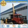 Кран Dongfeng 4X2 телескопичный установил на 10 тоннах тележки груза