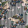 Tessuto di seta stampato Digitahi basso del reticolo geometrico MOQ per gli indumenti