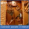Puerta interior personalizada del metal de la puerta del oro de Rose del oro para el restaurante / KTV / club