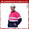 Da cor-de-rosa longa feita sob encomenda da luva do Vis do logotipo da mina de carvão camisa reflexiva olá! (ELTHVJ-81)