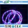 IP65 округляют свет веревочки рождества СИД 2 проводов высоковольтный