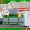 O Shredder Waste automático do pneu da tela de toque Output as microplaquetas de borracha de 50mm dos pneumáticos da sucata
