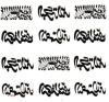 Etiqueta engomada temporal impermeable del tatuaje del diseño del tótem de la palabra