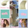 100%の毛の拡張の元の人間の毛髪ブラジルの柔らかいクリップ