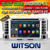 Véhicule DVD de l'androïde 5.1 de Witson pour HYUNDAI SANTA FE NEUF (2007-2011) /ELANTRA (2000-2006) avec la fonte d'Internet du WiFi 3G de ROM de Rockchip 3188 1080P 16g de faisceau de quarte (W2-F9778Y)