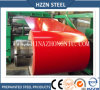 La couleur rouge de matériau de construction a enduit la bobine d'une première couche de peinture en acier galvanisée
