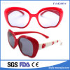 Eyeglasses bonitos da promoção grande colorida do espelho do fumo do frame do tamanho