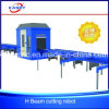 Máquina de estaca lidando do plasma do CNC do feixe do aço estrutural H U