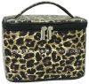Cubierta de la PU del leopardo de Animalier con el bolso del cosmético del artículo de tocador del recorrido del PVC
