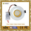9W 12W 20W 30W LED Downlight avec la version de Dimmable
