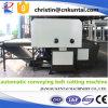 Автоматический гидровлический автомат для резки ткани конвейерной